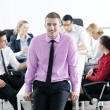 Young business man at meeting — Stock Photo