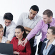Group of young business at meeting — Stock Photo #9347590