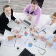 Group of young business at meeting — Stock Photo #9347635