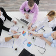 Group of young business at meeting — Stock Photo