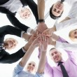 Business group joining hands — Stock Photo #9347728