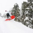 Snowboarder on fresh deep snow — Lizenzfreies Foto