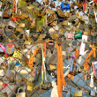 Love locks in Paris — Photo