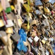 Love locks in Paris — Stock Photo