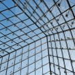 Metal roof top structure with glass construction - Stock Photo