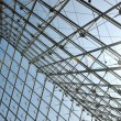 Metal roof top structure with glass construction — Stock Photo #9527296