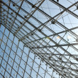 Metal roof top structure with glass construction — Stock Photo