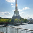 Eiffel tower in paris at day — Stock Photo #9527677