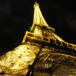 Eiffet tower in paris at night — Stock Photo