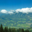 Panoramic view on Austrian Tirol Alps at  summer — Stock Photo