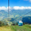 Panoramic view on Austrian Tirol Alps at  summer - Stock Photo