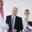 Arabic business man at meeting — Stock Photo
