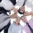Business with their heads together — Stock Photo #9569381