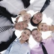 Business with their heads together — Stock Photo #9569403