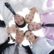 Business with their heads together — Stock Photo #9569416