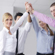 Business group joining hands — Stock Photo #9569446