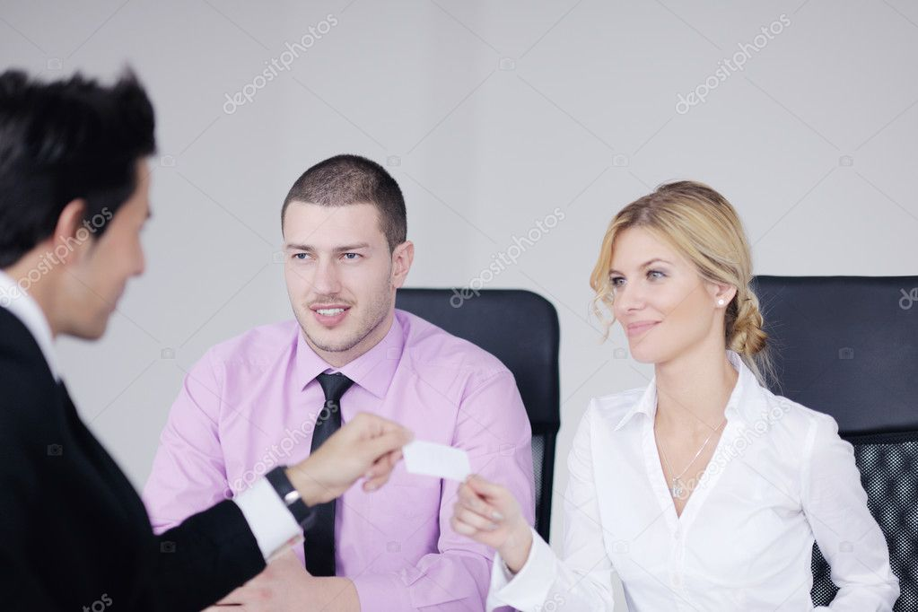 Business team  at a meeting in a light and modern office environment. — Stock Photo #9569723