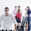 Young business man at meeting — Stock Photo #9570250