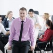 Young business man at meeting — Stock Photo #9570272