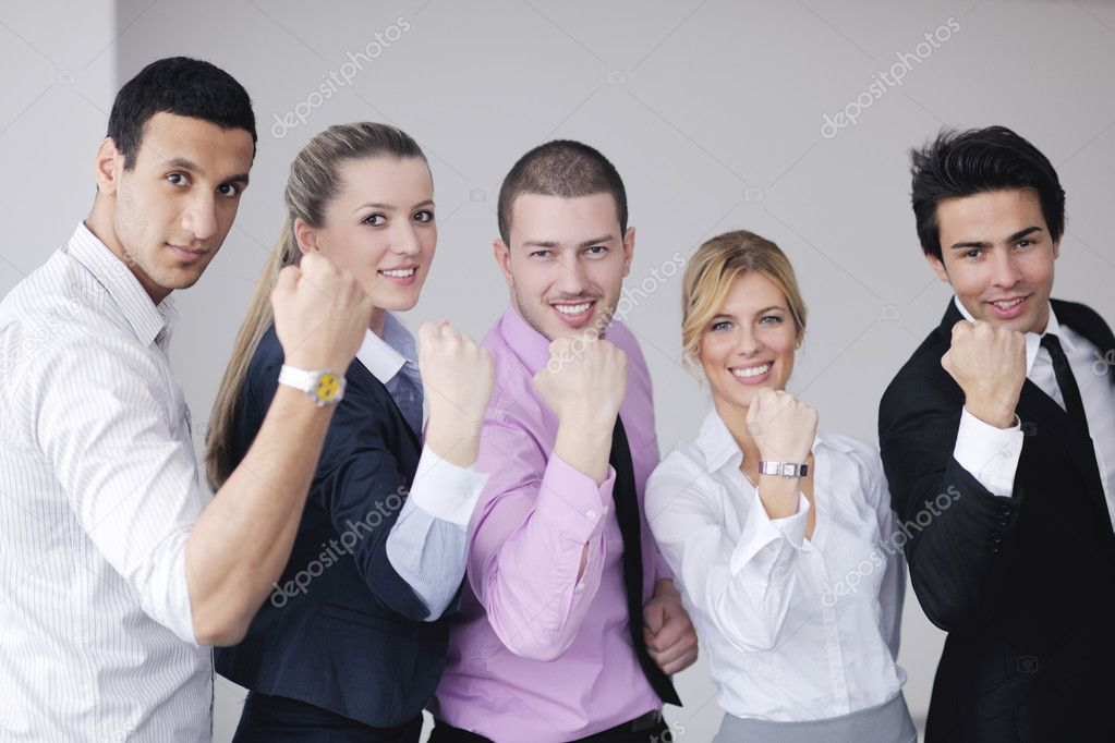 Business team  at a meeting in a light and modern office environment. — Stock Photo #9570029