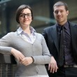 Business woman and business man — Stock Photo #9668904