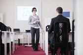 Unternehmensgruppe auf seminar — Stockfoto