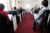 Grupo empresarial en seminario — Foto de Stock