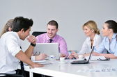 Group of young business at meeting — Foto de Stock