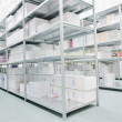 Medical factory supplies storage indoor — Stock Photo