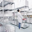 Royalty-Free Stock Photo: Medical factory  supplies storage indoor