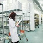 Medical factory supplies storage indoor — Stock Photo #9977447