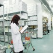 Medical factory supplies storage indoor — Stock Photo #9977451