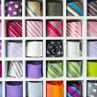 Colorful tie collection — Stock Photo #10575464
