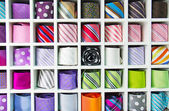 Colorful tie collection — Stock Photo