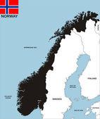 Mappa di norvegia — Foto Stock