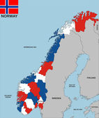 Norway map — Stock Photo