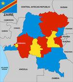 Zaire map — Stock Photo