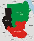 Mapa do sudão — Foto Stock