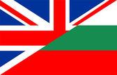 Flaga bułgarii uk — Zdjęcie stockowe