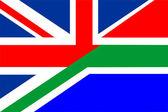 Bandiera del regno unito sud africa — Foto Stock