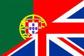 Uk portugal flag — Stock Photo
