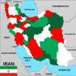Iran map — Stock Photo