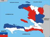 Haiti map — Stock Photo