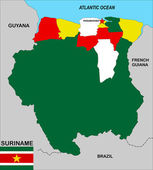 Suriname map — Stock Photo