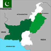 Pakistan map — Stock Photo
