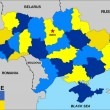 Ukraine map — Stock Photo