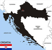Kroatien politiska karta — Stockfoto