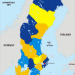 Sweden political map — Stock Photo #9229056