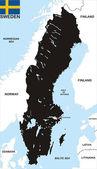 Sweden political map — Stock Photo