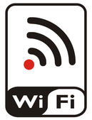 Wi fi sign — Stock Photo